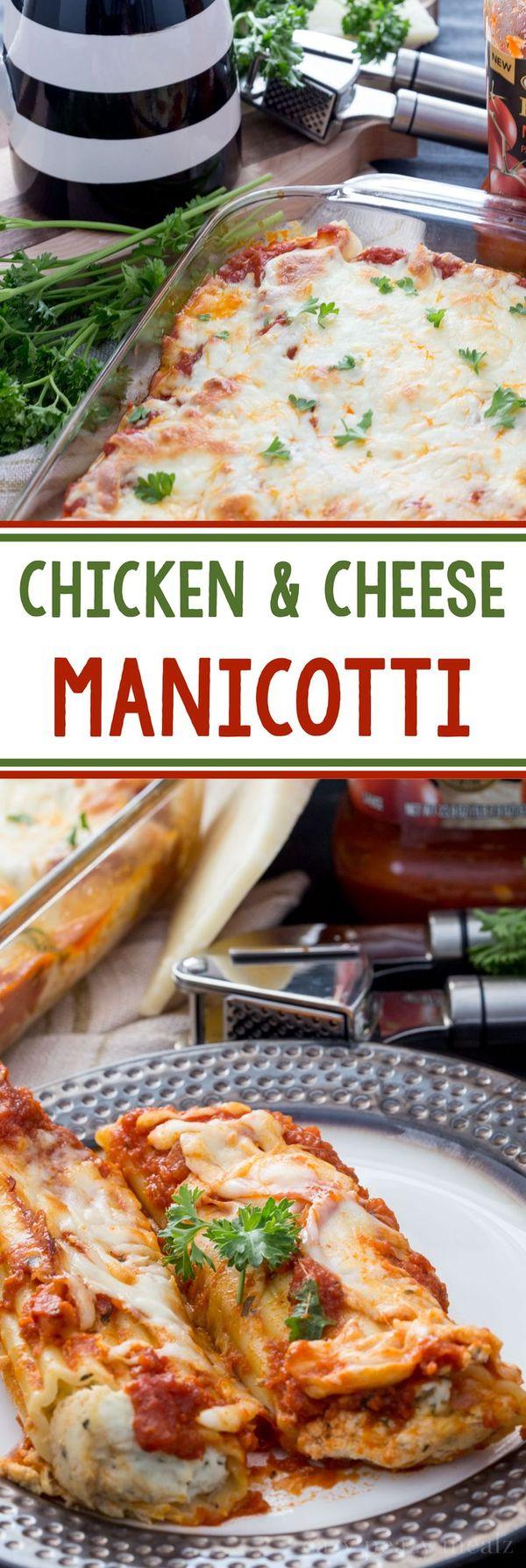 Chicken and Cheese Manicotti