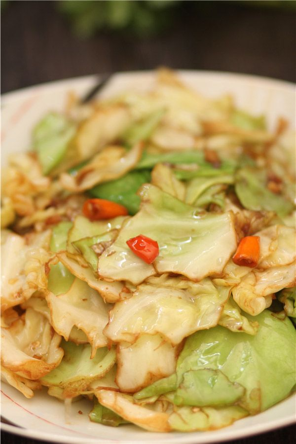 Chinese Stir Fry Cabbage