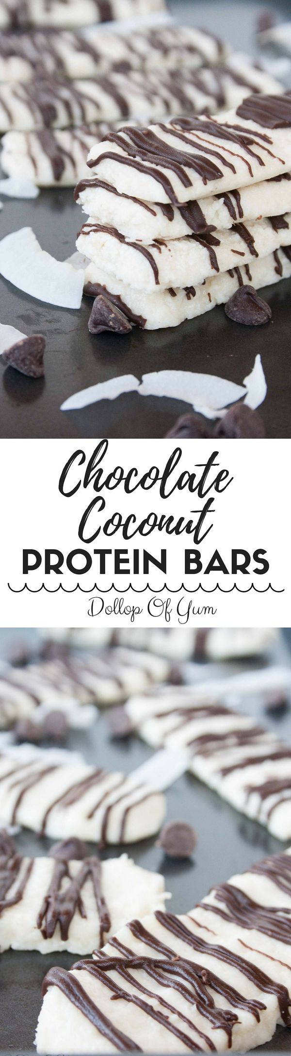 Chocolate Coconut Protein Bars