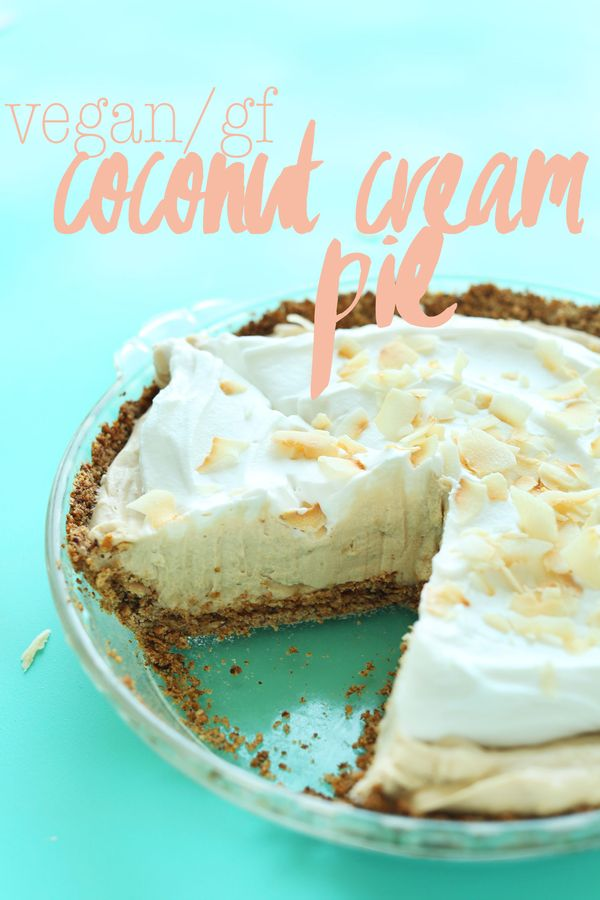 Coconut Cream Pie (Vegan + GF