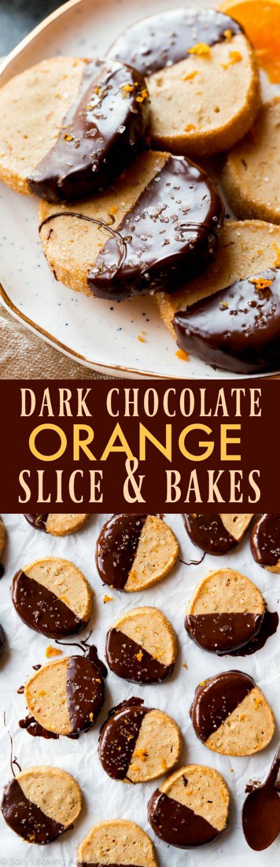 Dark Chocolate Orange Slice & Bake Cookies