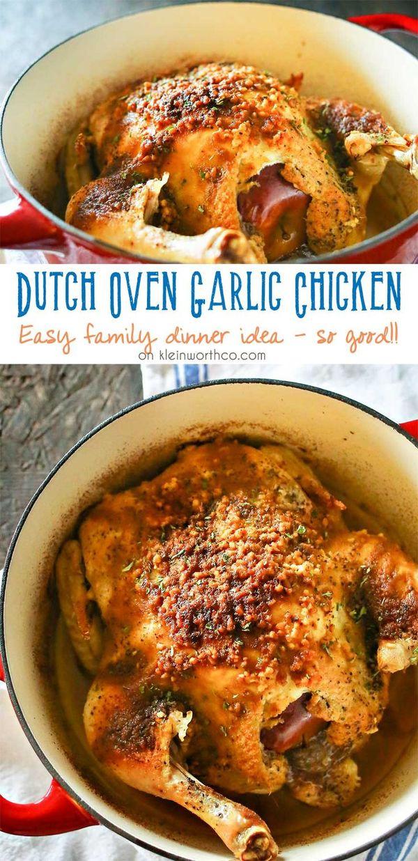 Dutch Oven Garlic Chicken