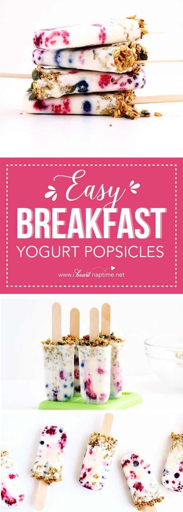 Easy Breakfast Yogurt Popsicles