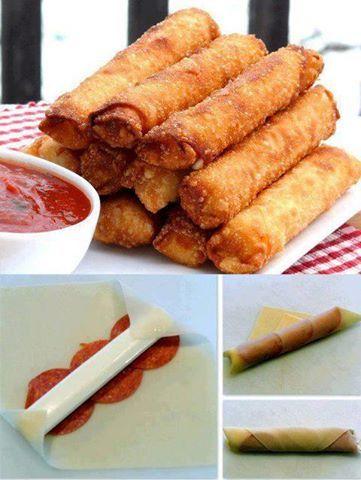 Fried Mozzarella-Pepperoni Sticks