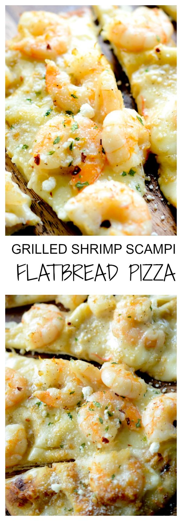 Grilled Shrimp Scampi Flat Bread Pizza