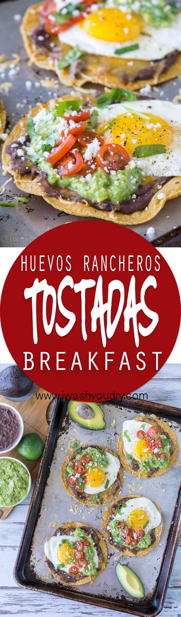 Huevos Rancheros Breakfast Tostadas with Avocado Salsa Verde