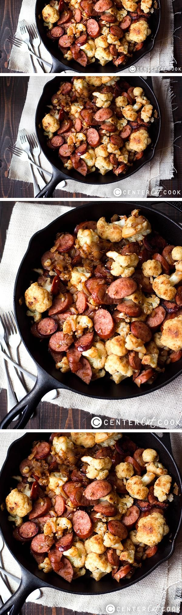 Kielbasa and Cauliflower Stir Fry