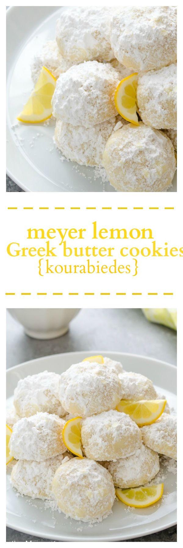 Meyer Lemon Greek Butter Cookies (Kourabiedes