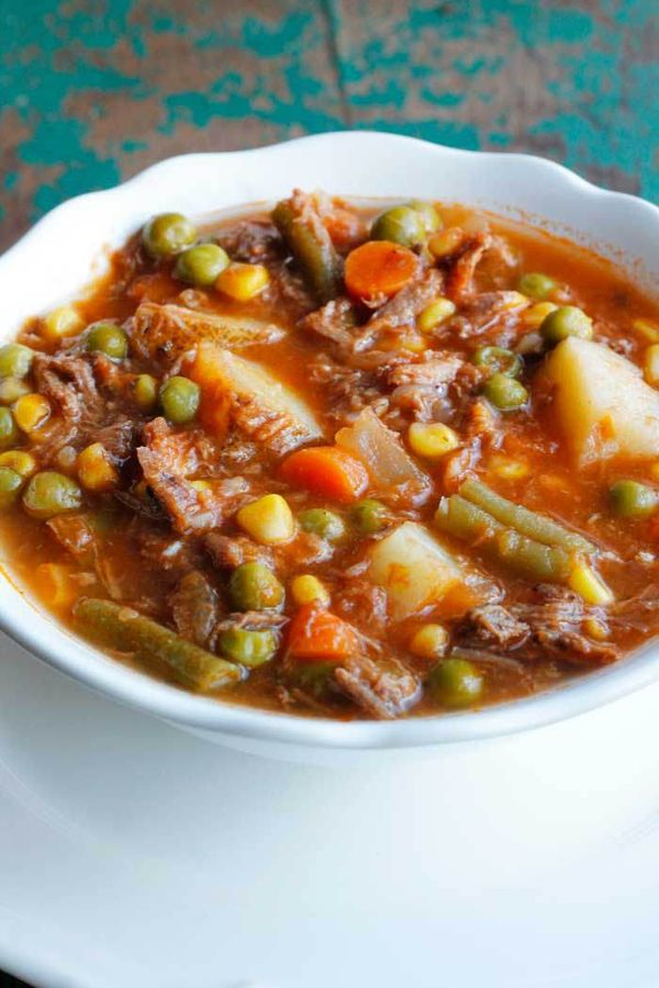 My Mom's Old-Fashioned Vegetable Beef Soup