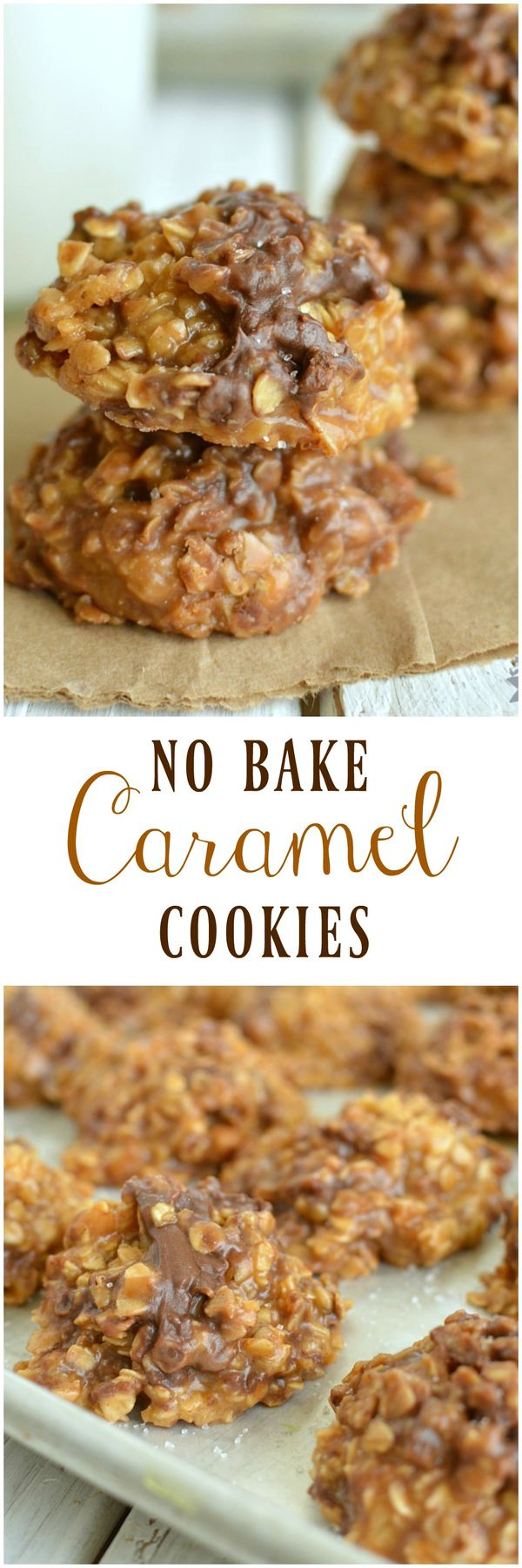 No Bake Caramel Cookies