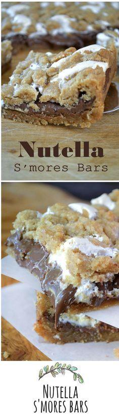 Nutella S'mores Bars