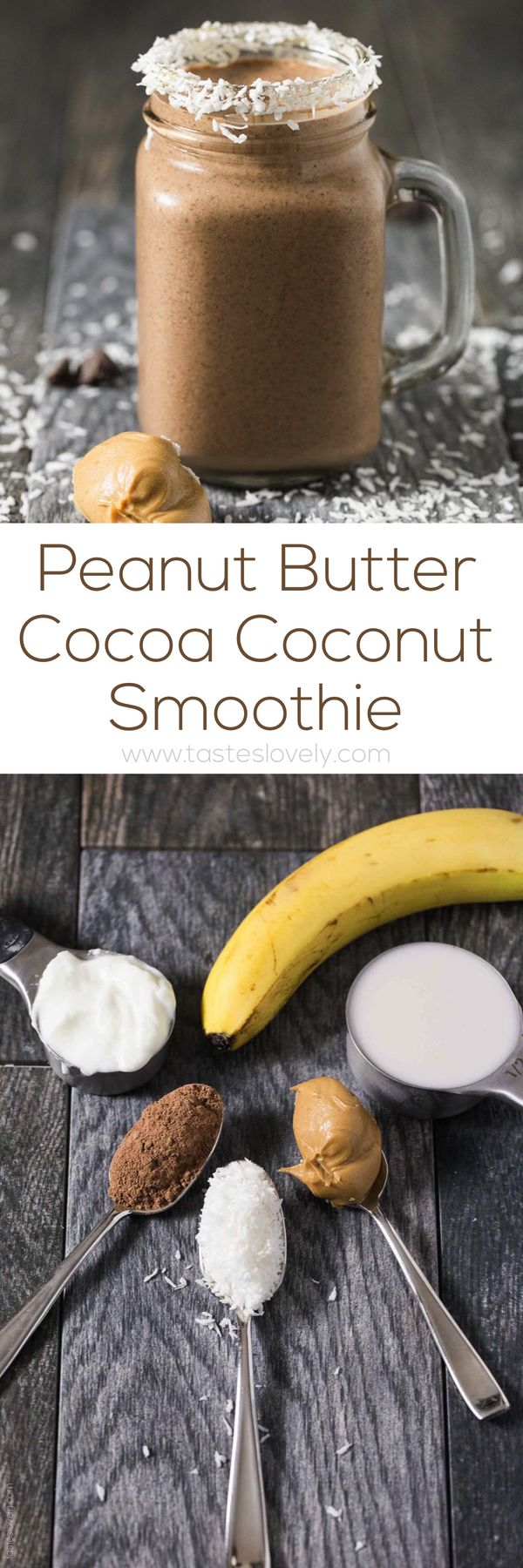 Peanut Butter Cocoa Coconut Smoothie