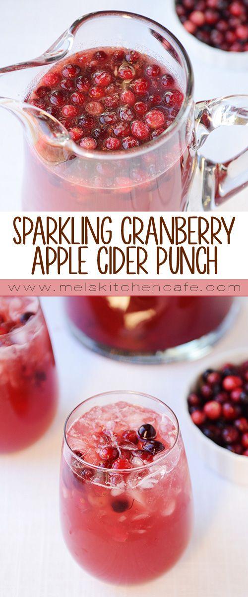 Sparkling Cranberry Apple Cider Punch