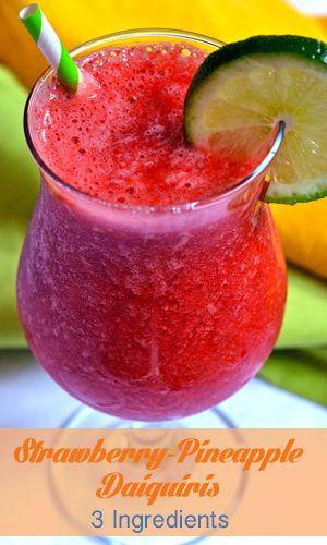Strawberry-Pineapple Daiquiris