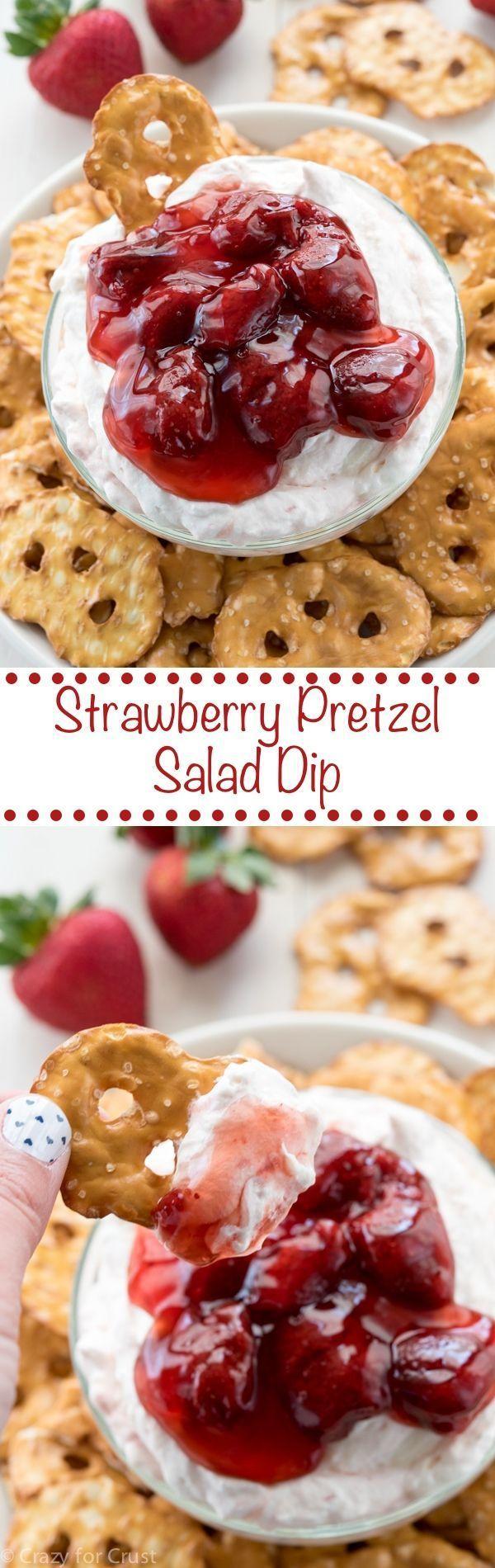 Strawberry Pretzel Salad Dip