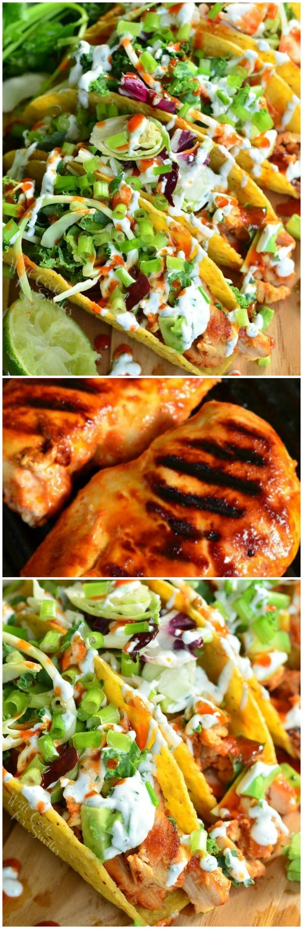 Sweet and Spicy Sriracha Chicken Tacos