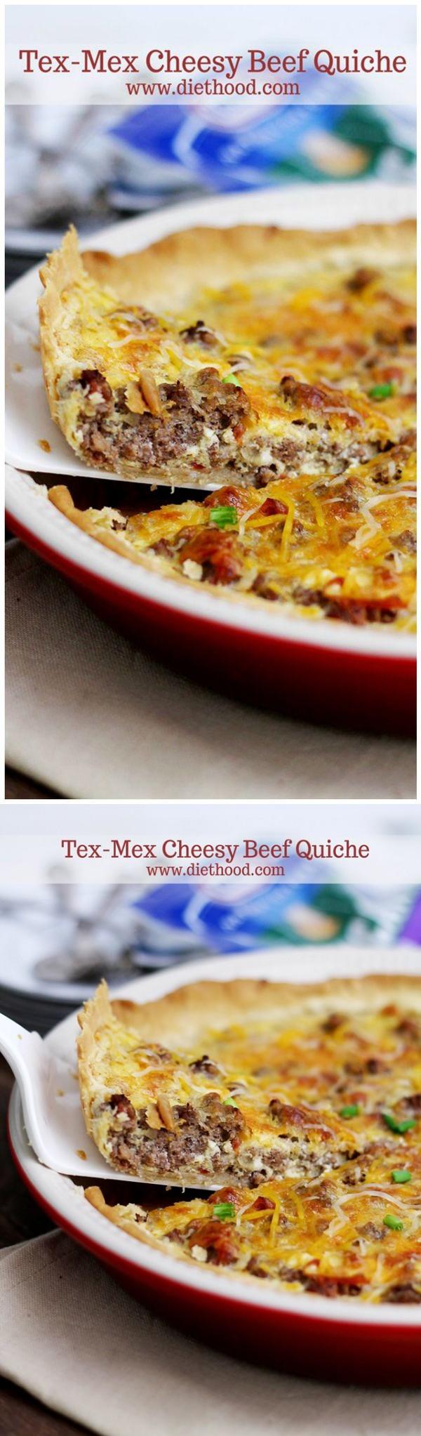 Tex-Mex Cheesy Beef Quiche