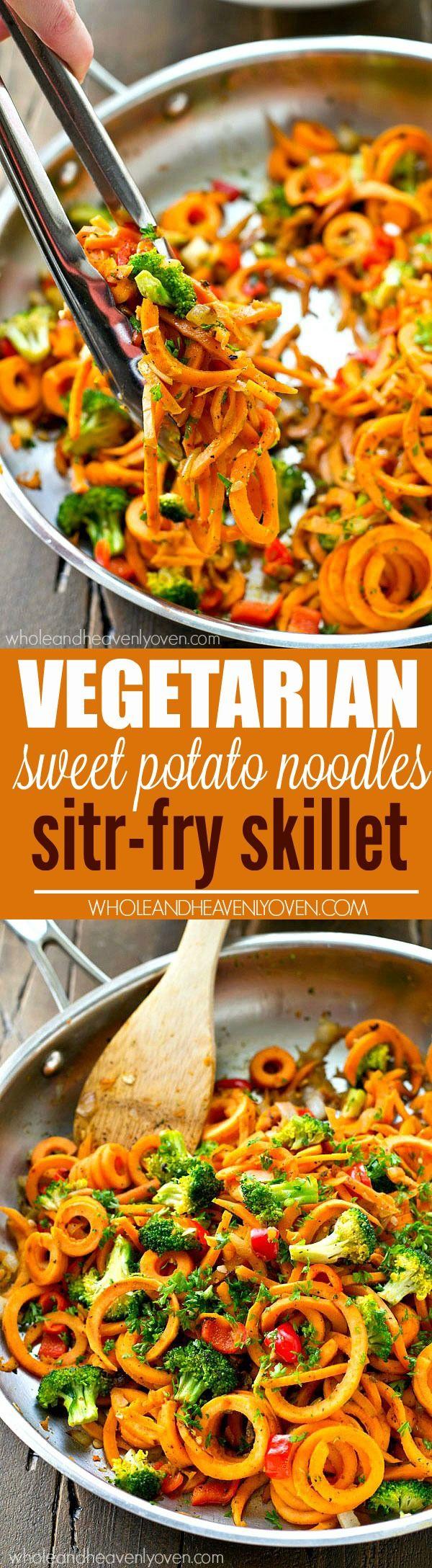 Vegetarian Sweet Potato Noodles Stir-Fry