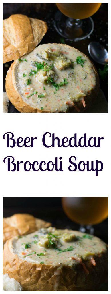 Beer Cheddar Broccoli Soup