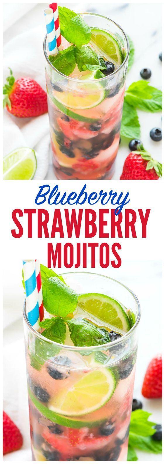 Blueberry Strawberry Mojito