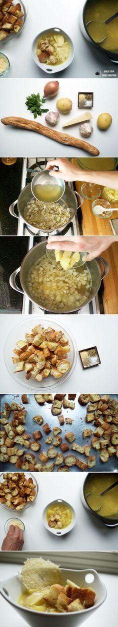 Cesnecka: Czech Garlic Soup