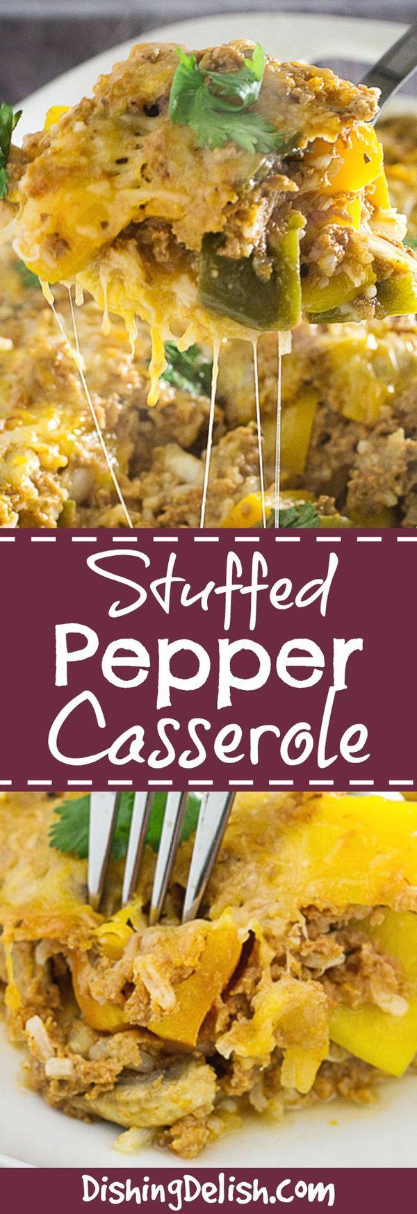 Cheesy Stuffed Pepper Casserole