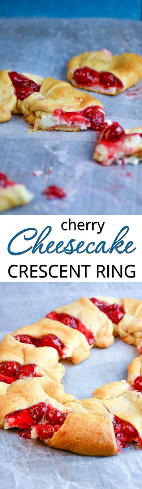 Cherry and Cheesecake Crescent Ring