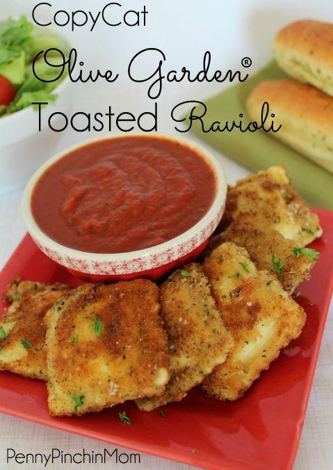 Copycat Olive Garden® Toasted Ravioli