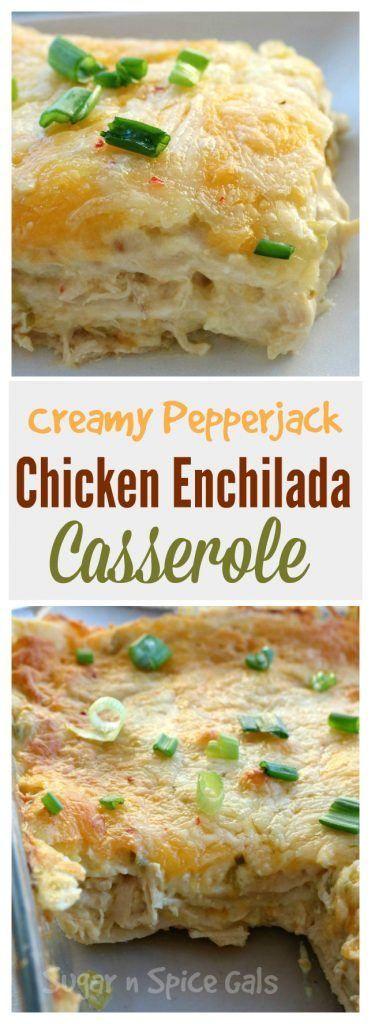 Creamy Pepperjack Chicken Enchiladas