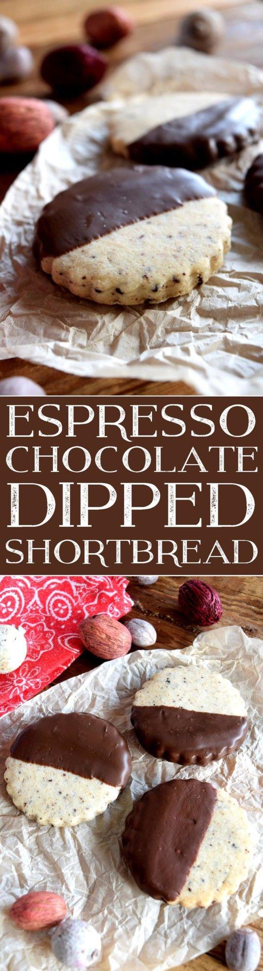 Espresso Chocolate Dipped Shortbread