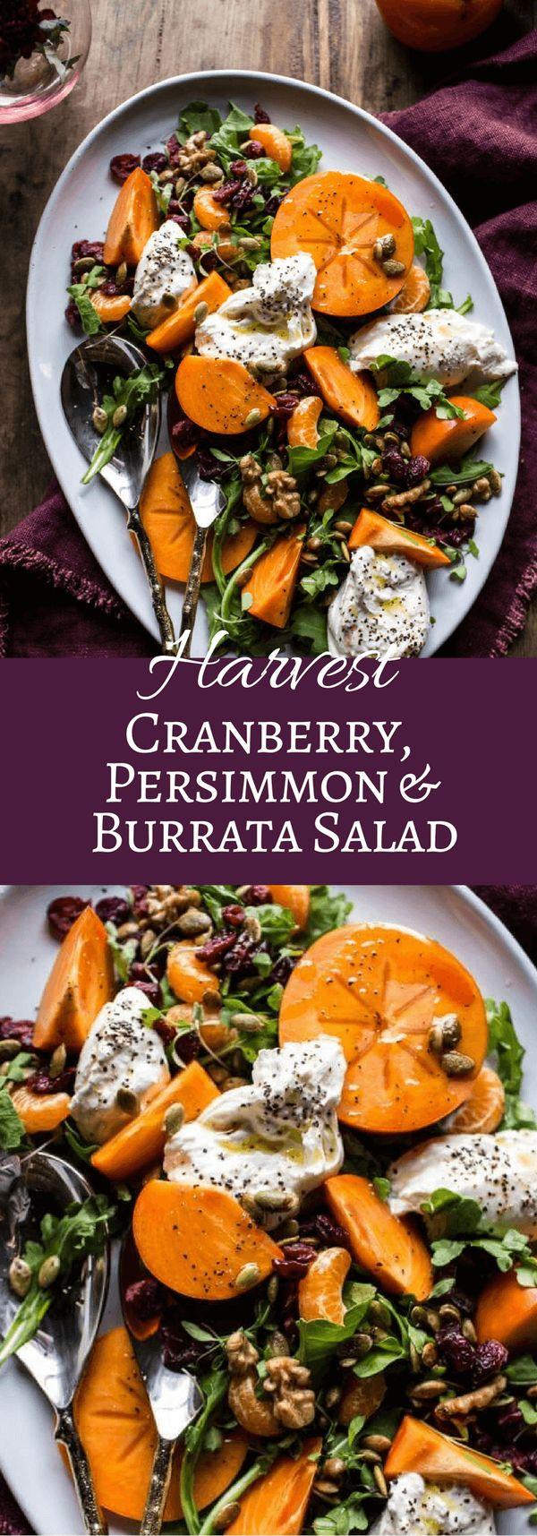 Harvest Cranberry, Persimmon and Burrata Salad