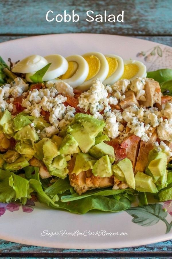 Healthy Chicken Cobb Salad for One