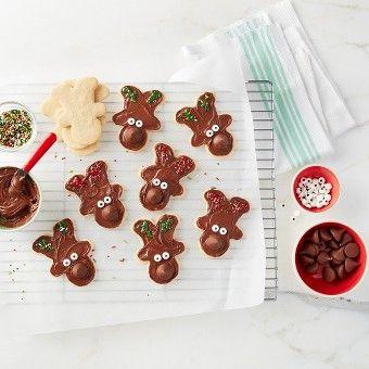 Hershey's kisses reindeer sugar cookies