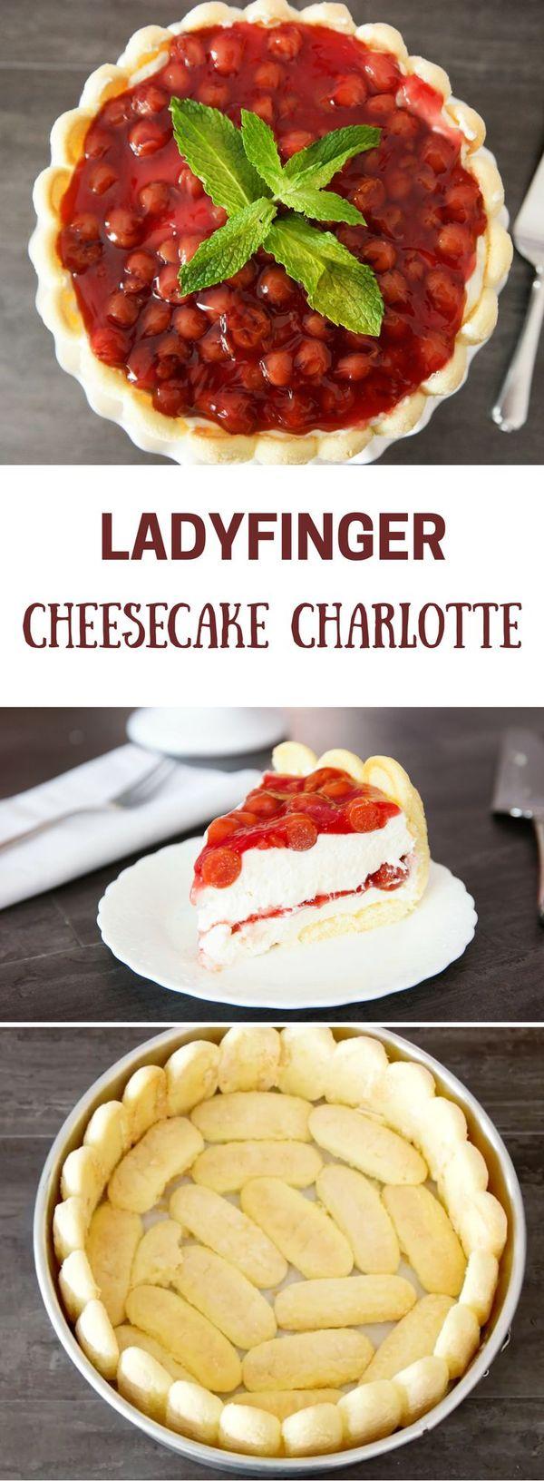 Ladyfinger Cheesecake Charlotte