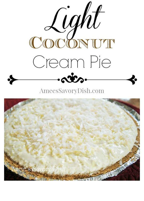 Light Coconut Cream Pie