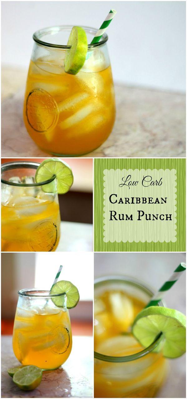 Low Carb Caribbean Rum Punch