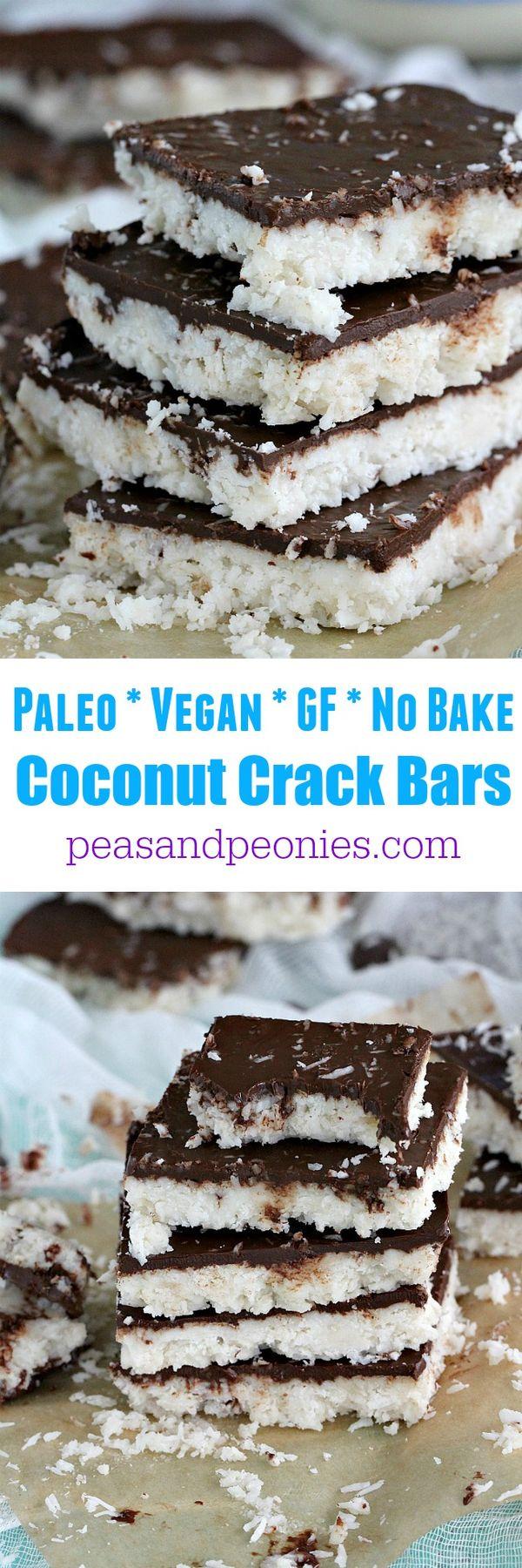 Paleo Coconut Crack Bars - Vegan, No Bake