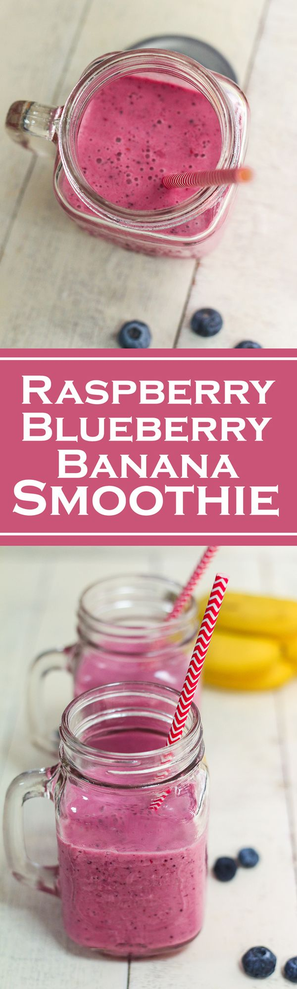 Raspberry Blueberry Banana Smoothie