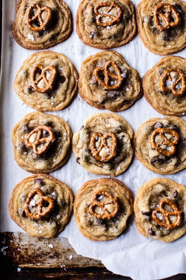 Salted Pretzel Nutella Cookie Ice Cream Sandwiches