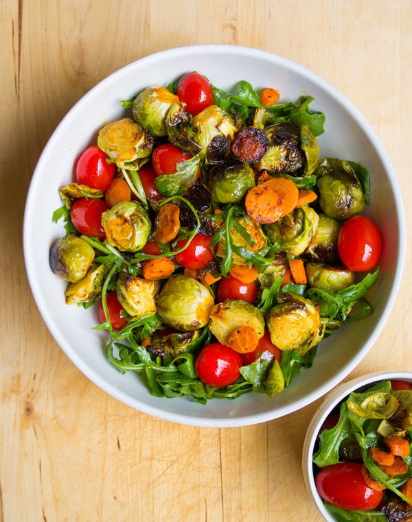 Simple Sriracha-Roasted Brussels Sprout Salad