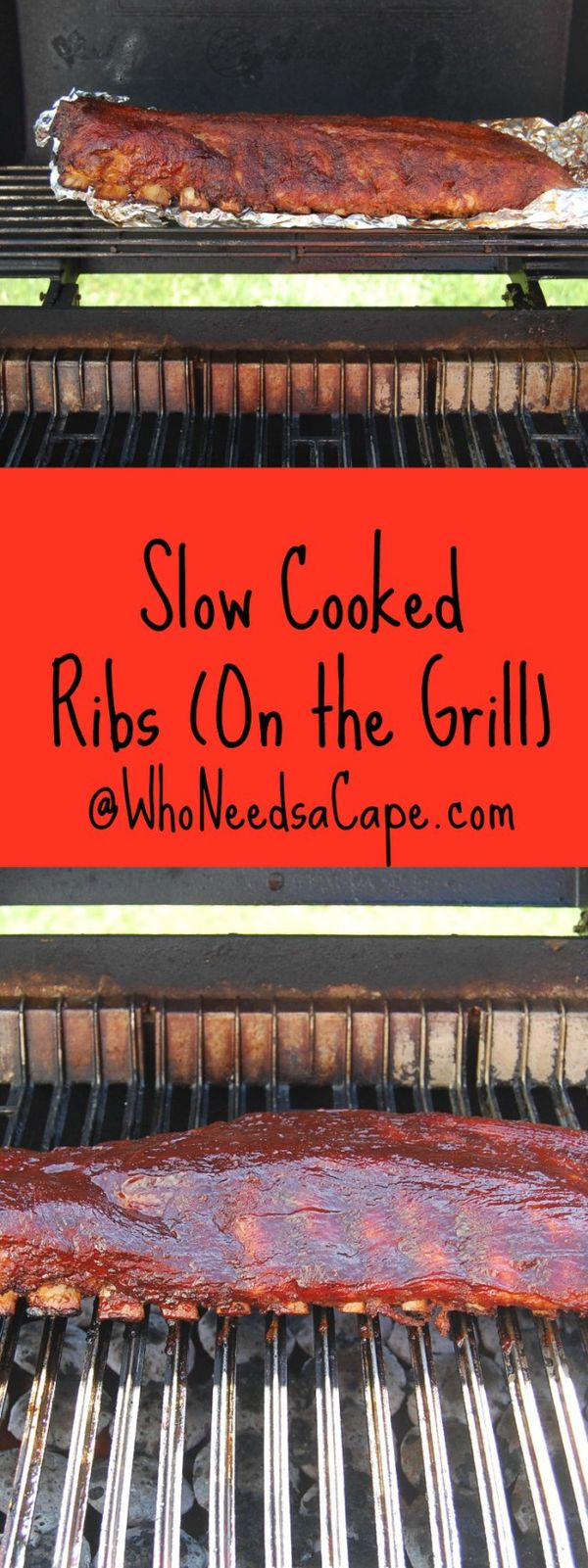 Slow Cooked on the Grill Ribs