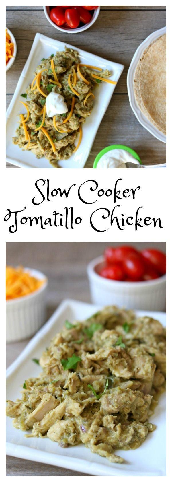 Slow Cooker Tomatillo Chicken Filling