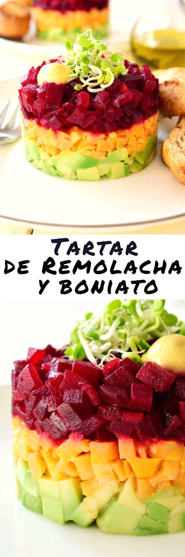 Tartar de Remolacha y Boniato