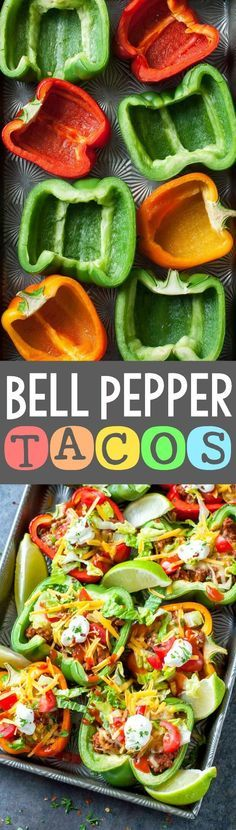 Baked Bell Pepper Tacos