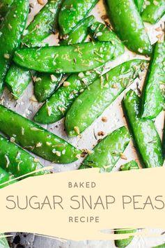 Baked Sugar Snap Peas