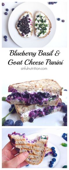 Blueberry Basil & Goat Cheese Panini Sandwich
