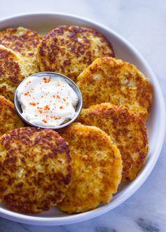 Cauliflower Cheddar Fritters (Pancakes