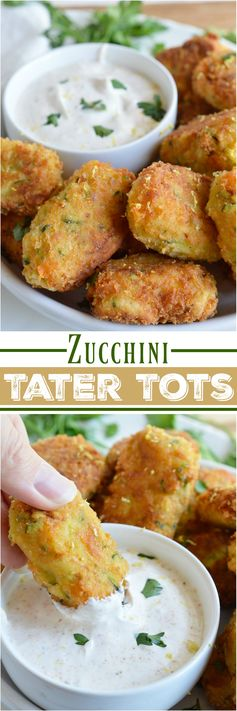 Cheesy Zucchini Tater Tots