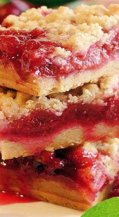 Cherry Pie Crumble Bars - Best Ever
