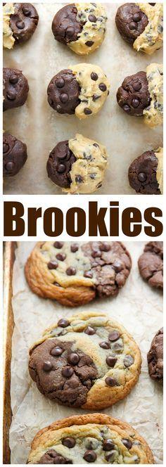 Chocolate Chip Brownie Swirl Cookies